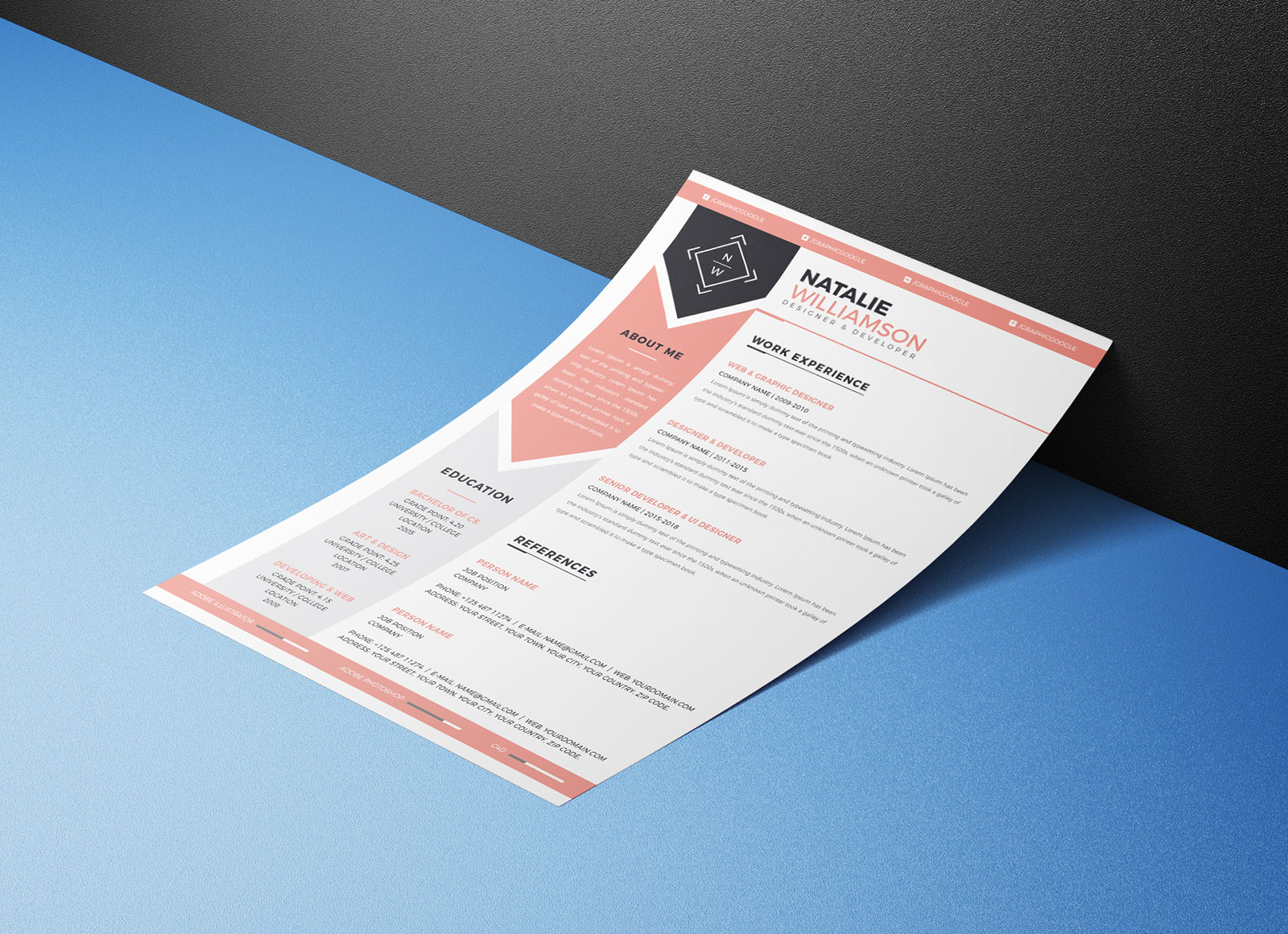 Free-Modern-Resume-CV-Template-&-Cover-Letter-Ai-For-Designers-and-Developers- (2)