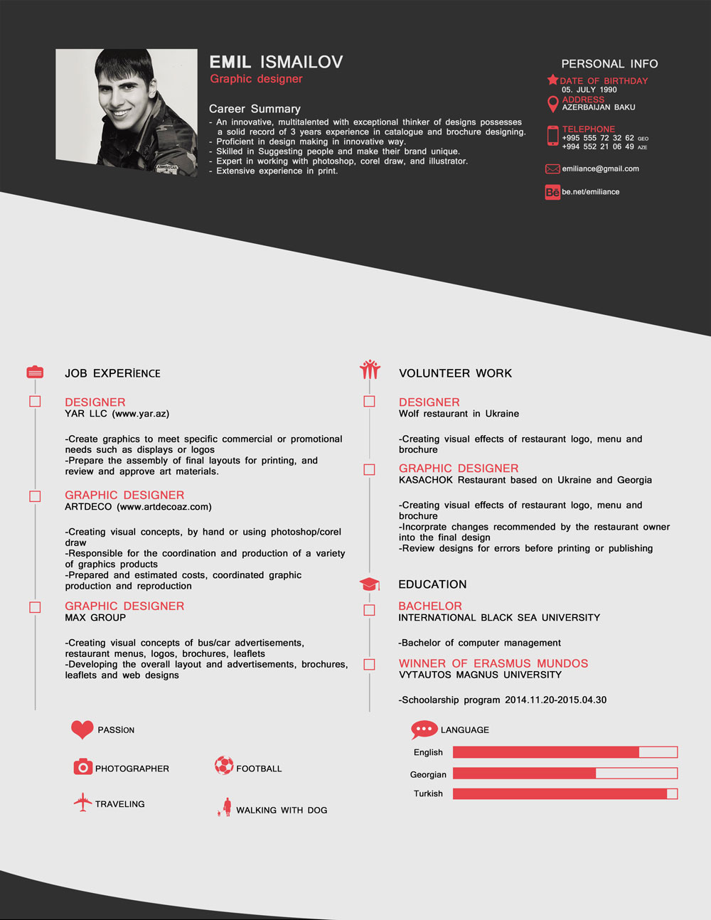 free old style cv   template in psd format