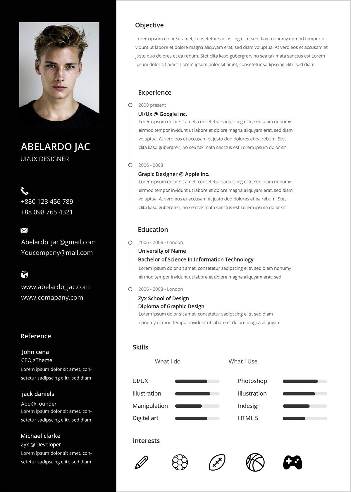 Free-PSD-CV-Template-Design-for-Web-Designers