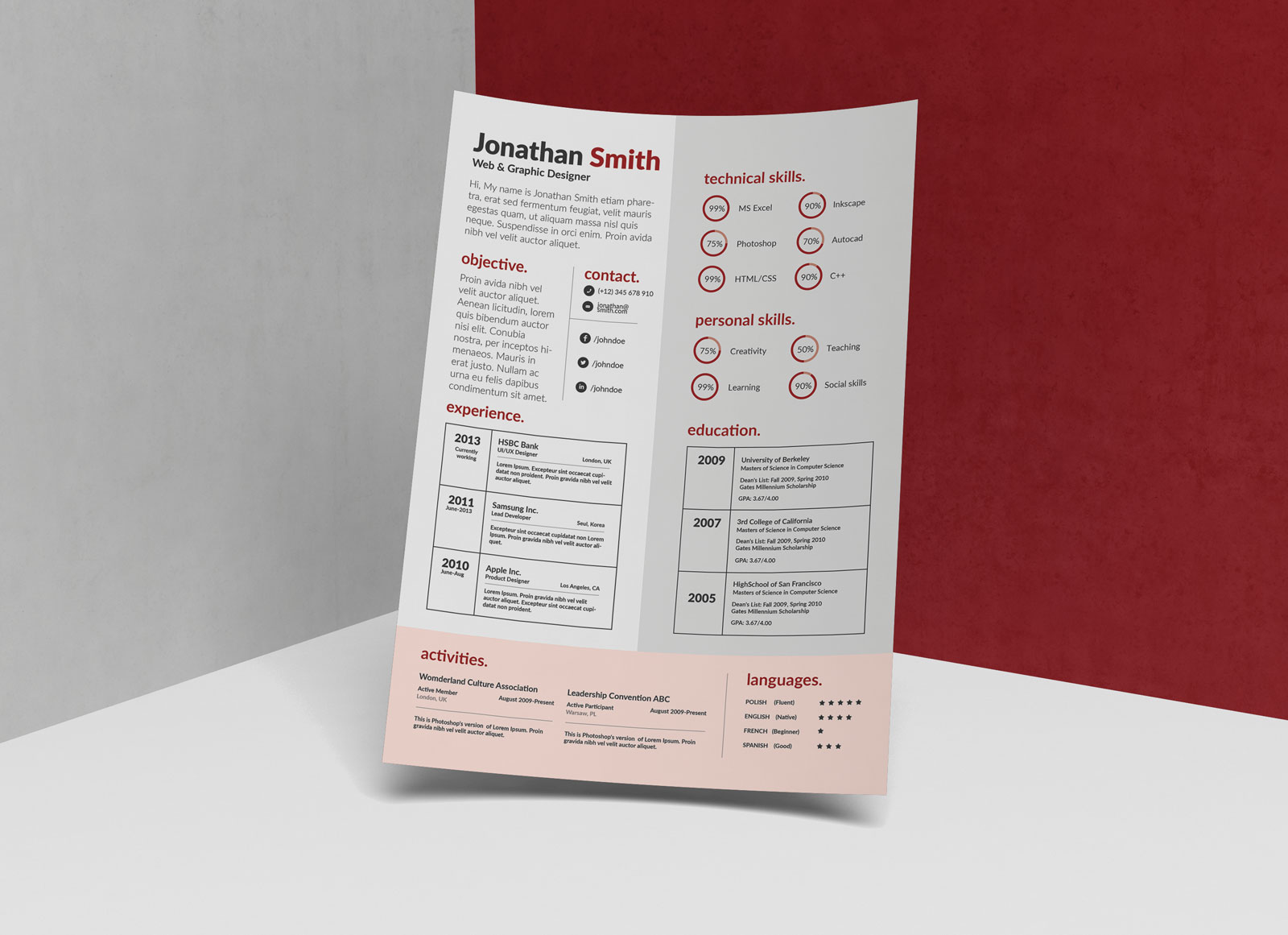 Free-PSD-CV-Template-for-Web-&-Graphic-Artist-3