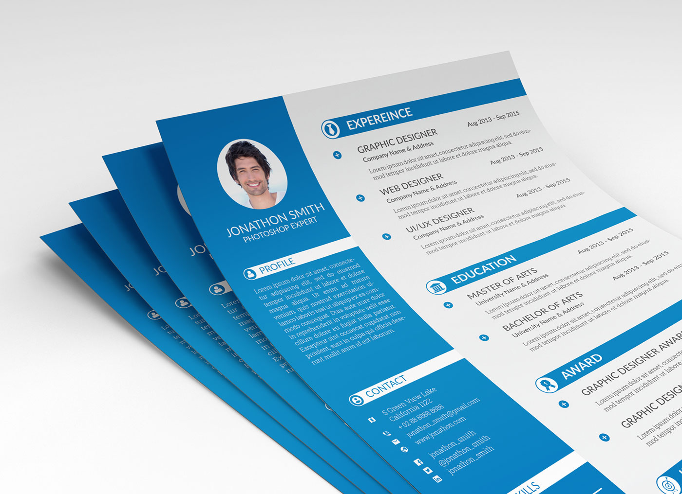 free psd resume cv  u0026 cover letter template for ui and ux