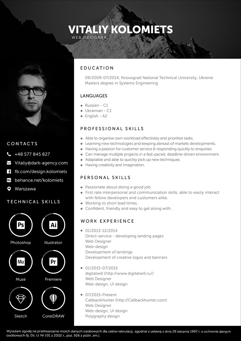 Free-PSD-Resume-Template-for-Web-Developer-2