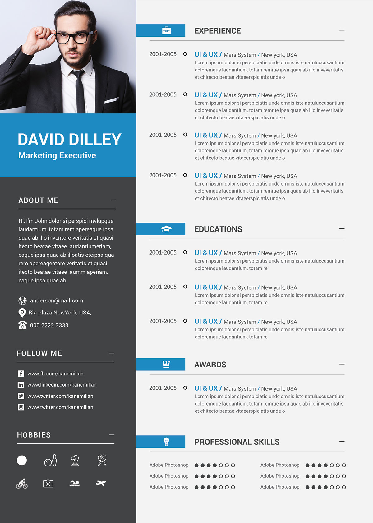 Free Professional Cv Template Amp Cover Letter For Marketing