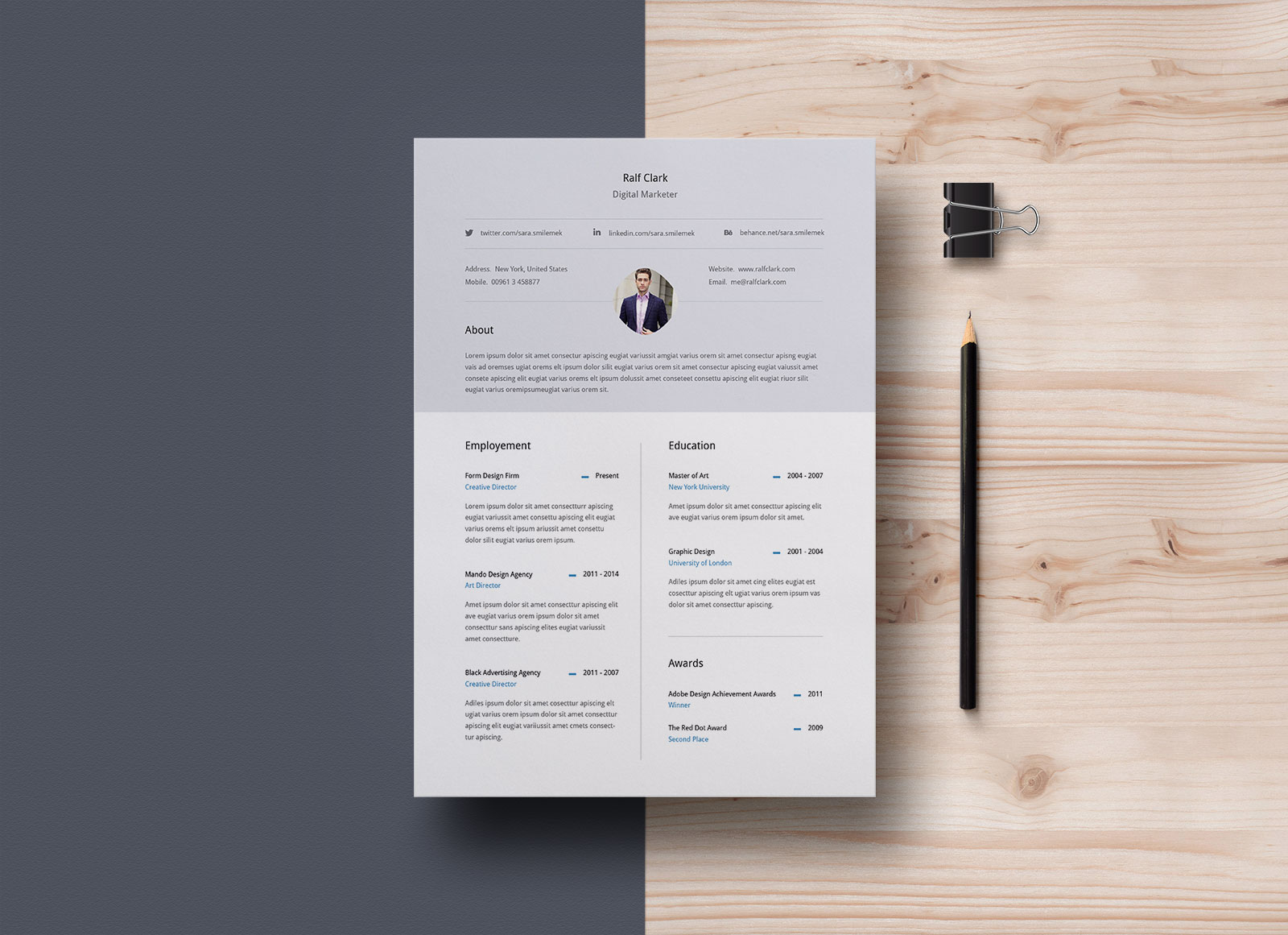 free professional resume  u0026 cover letter in illustrator ai format