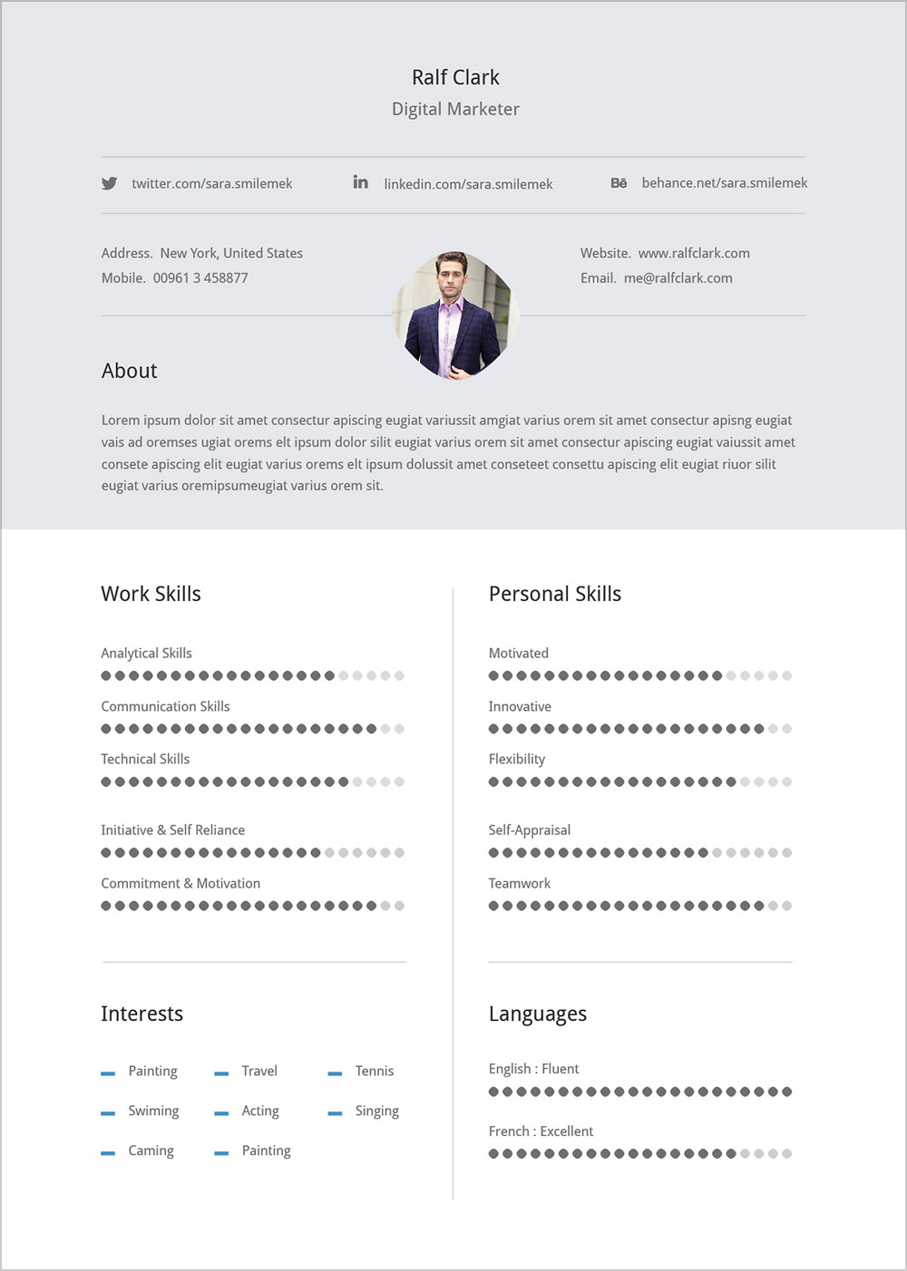 free professional resume  u0026 cover letter in illustrator ai