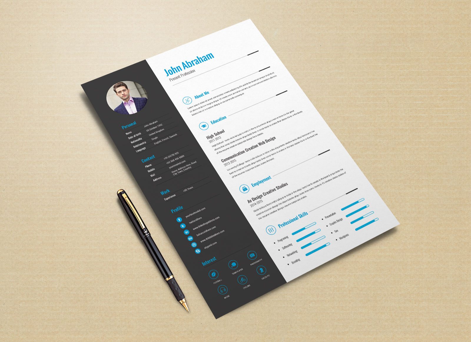 Free-Professional-Resume-Template-&-Cover-Design-in-INDD,-PSD,-Ai-&-Word-DOCX-4