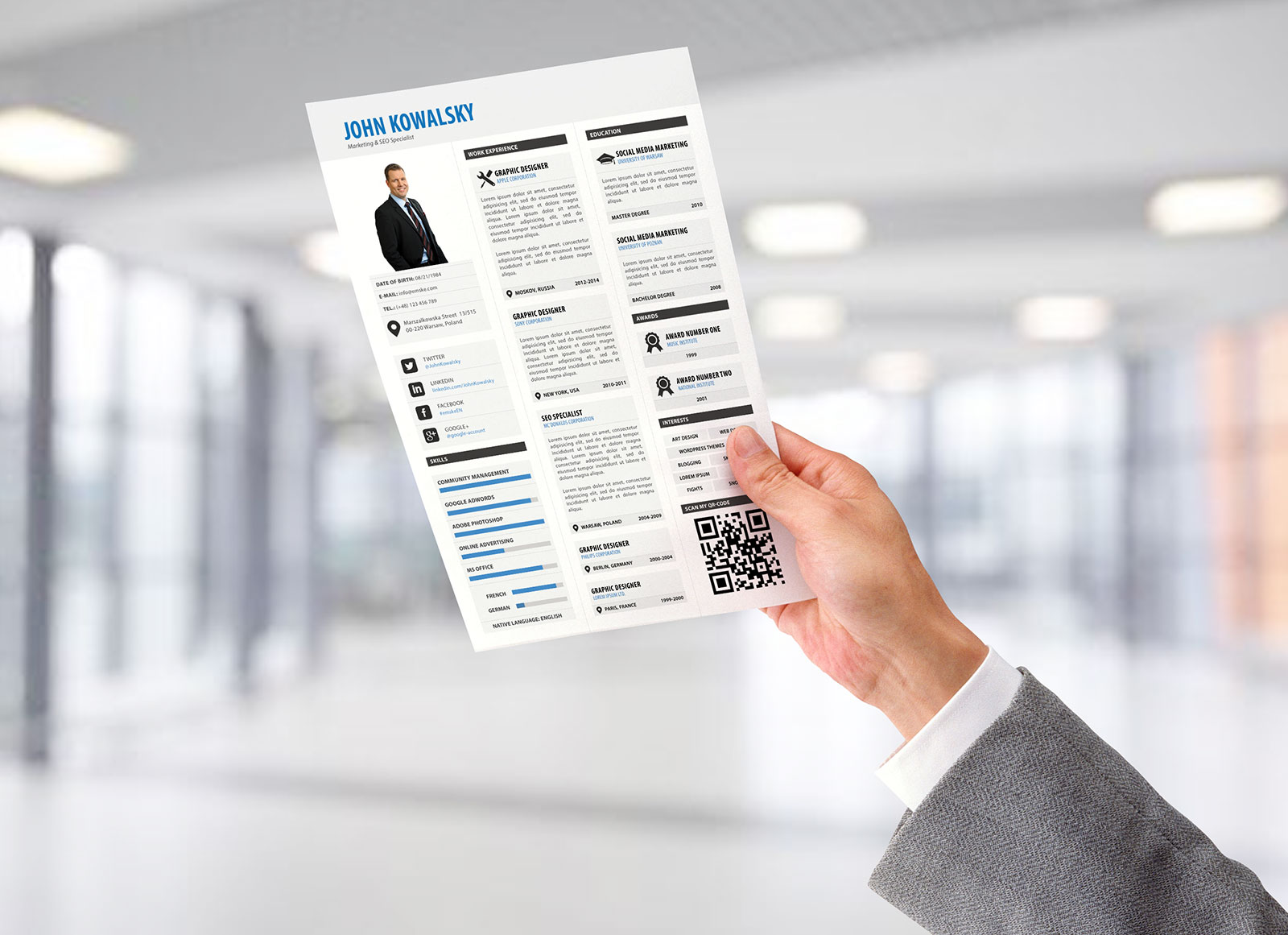 Free-Professional-Resume-Template-PSD-For-Marketing-Manager-&-Seo-Specialist