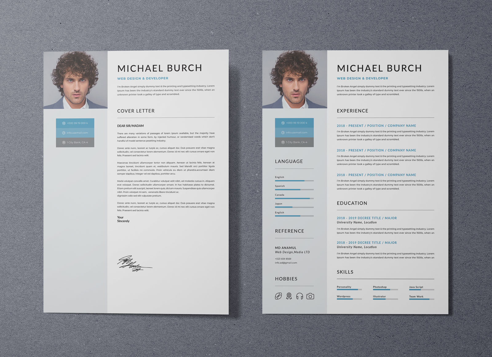 Free Professional Resume Template In DOC, PSD & Ai Format ...