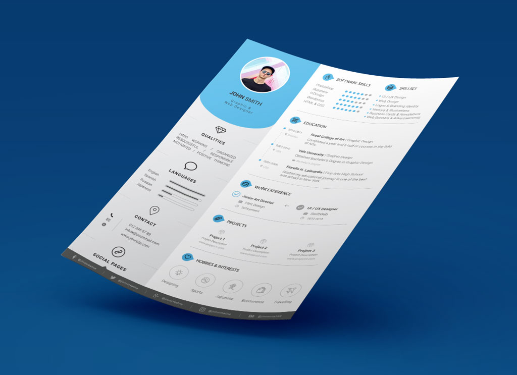 Free Resume/ CV & Cover Letter Template In PSD & Ai Format ...