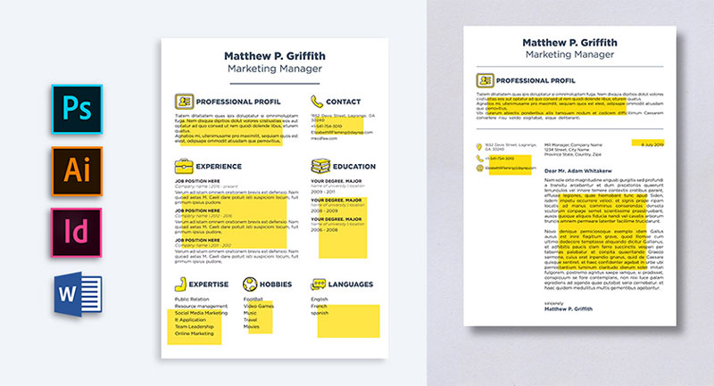 Free-Resume-CV-Template-&-Cover-Letter-in-Word-PSD-INDD-&-Ai-for-Marketing-Manager (2)