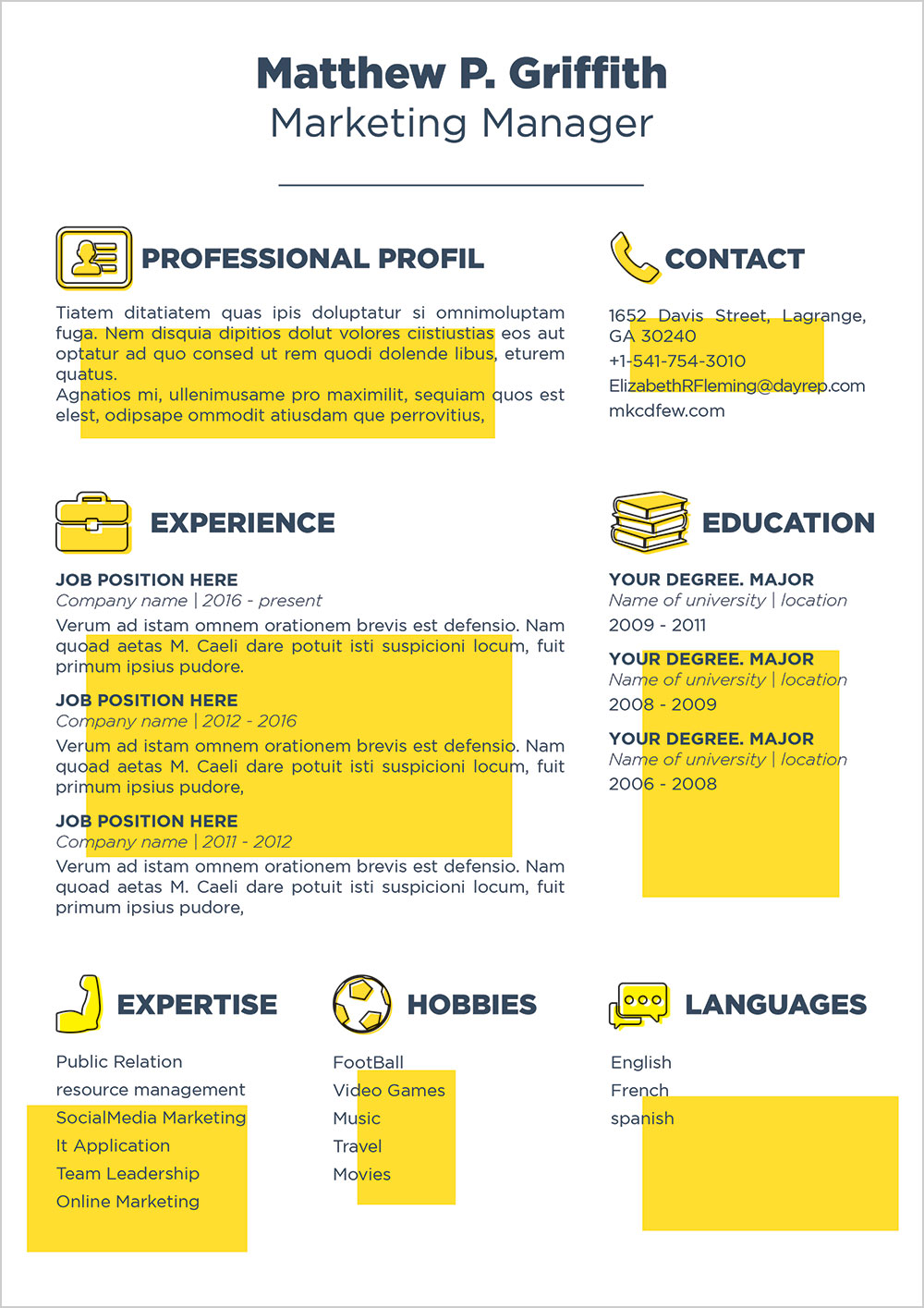 Free-Resume-CV-Template-&-Cover-Letter-in-Word-PSD-INDD-&-Ai-for-Marketing-Manager (4)