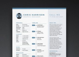 Free-Resume-CV-Template-in-INDD,-Photoshop-PSD-&-Word-DOCX