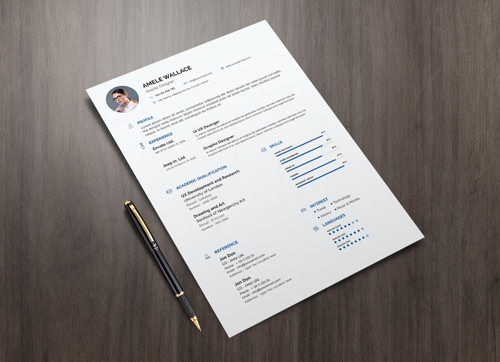 Free-Simple-Resume-Template-in-Photoshop-PSD-Format-