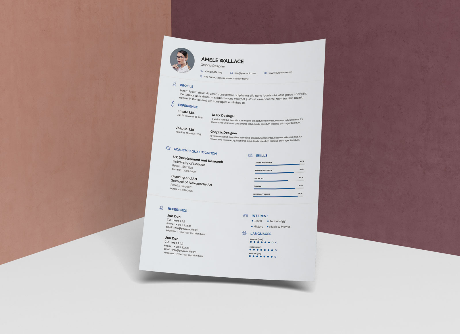 Simple Resume Format | Free Simple Resume Template In Photoshop Psd Format Good Resume