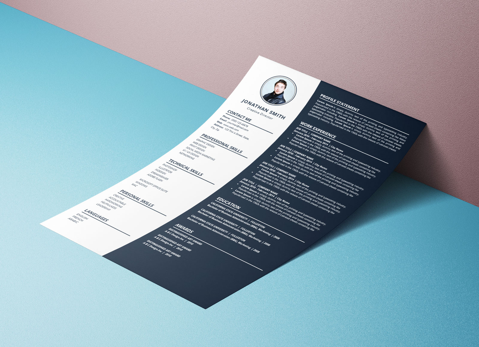 Free Simple to Edit Word Resume CV Template (2)
