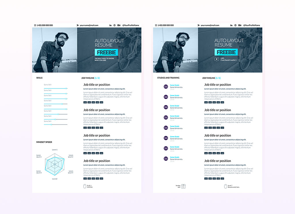 free sketch resume cv template for ui  u0026 ux designer