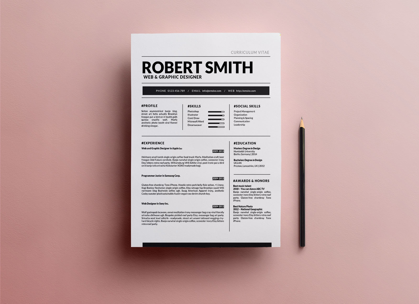 Free-Standard-Resume-Template-in-DOCX-&-DOC-Format-3