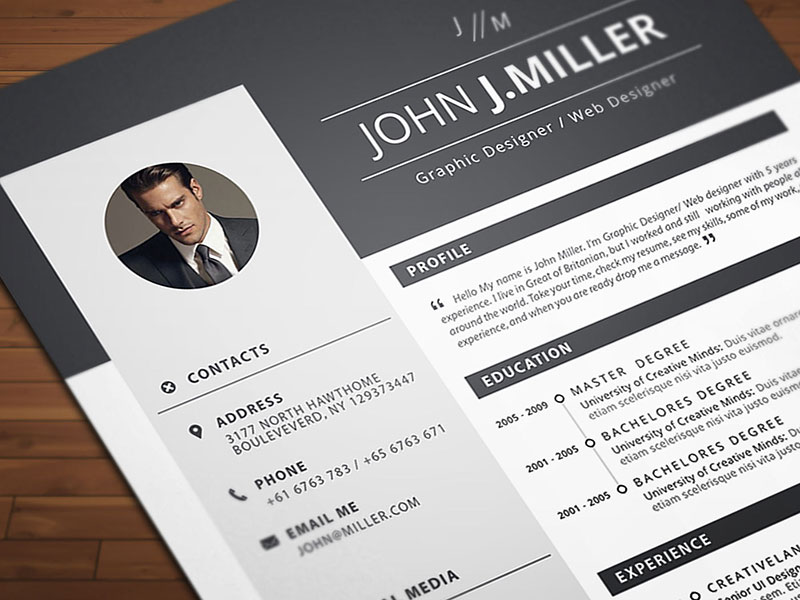 Free Download Resume Cv Template For Ms Word Format Good Resume