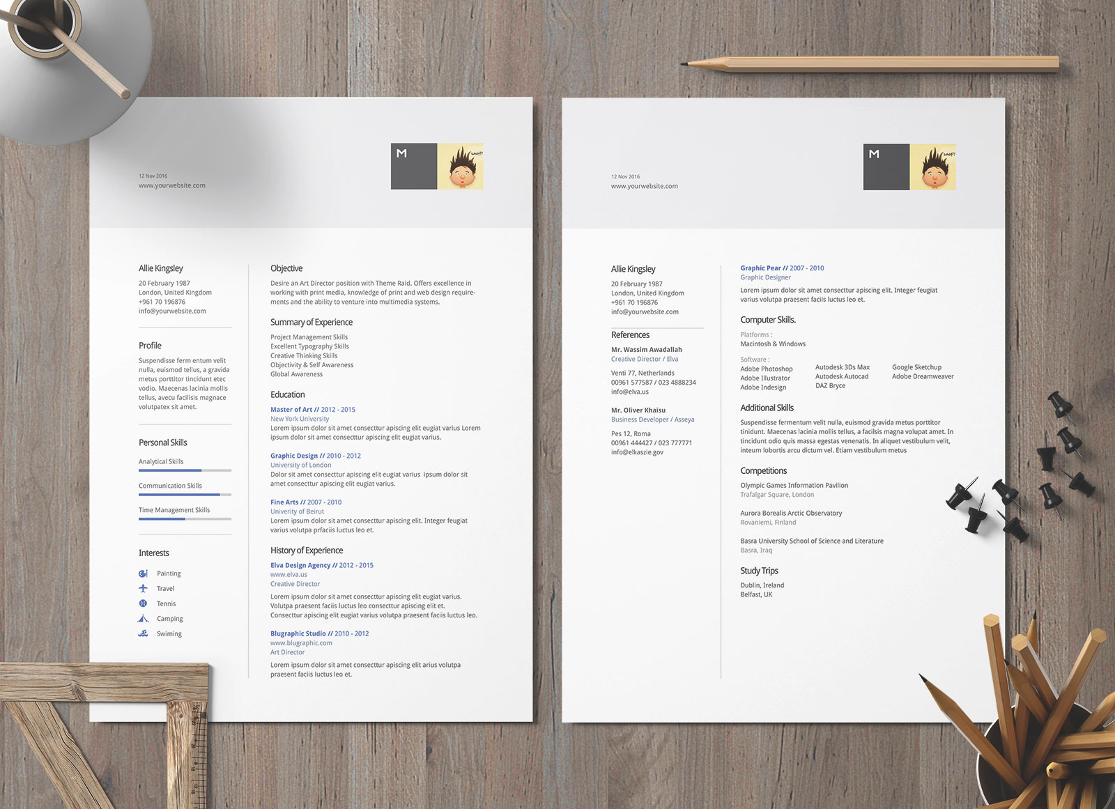 Free Ai DOC & DOCX Professional Resume Template for Architects & Designers (1)