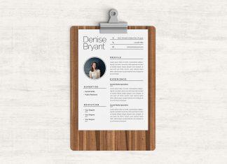 Free Ai Resume CV Template For Social Media