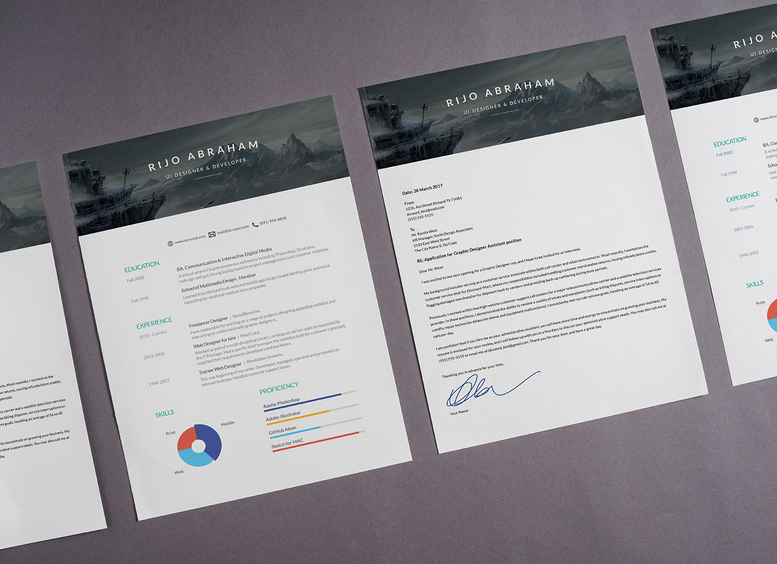 Free Designer Resume Template in PSD & Word Format (1)