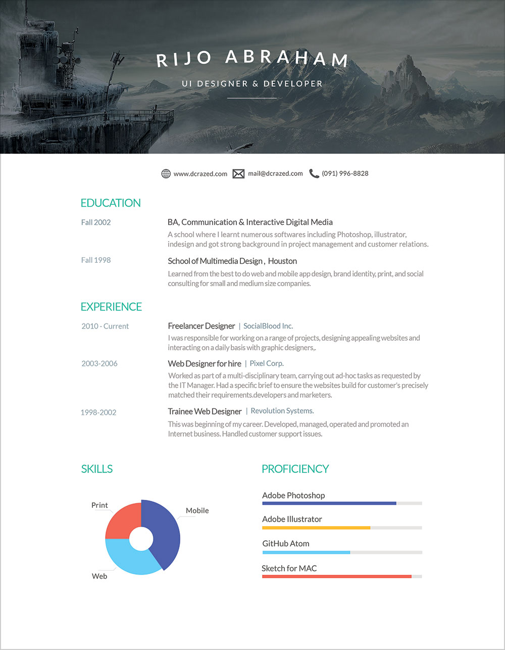 Free Designer Resume Template in PSD & Word Format (3)