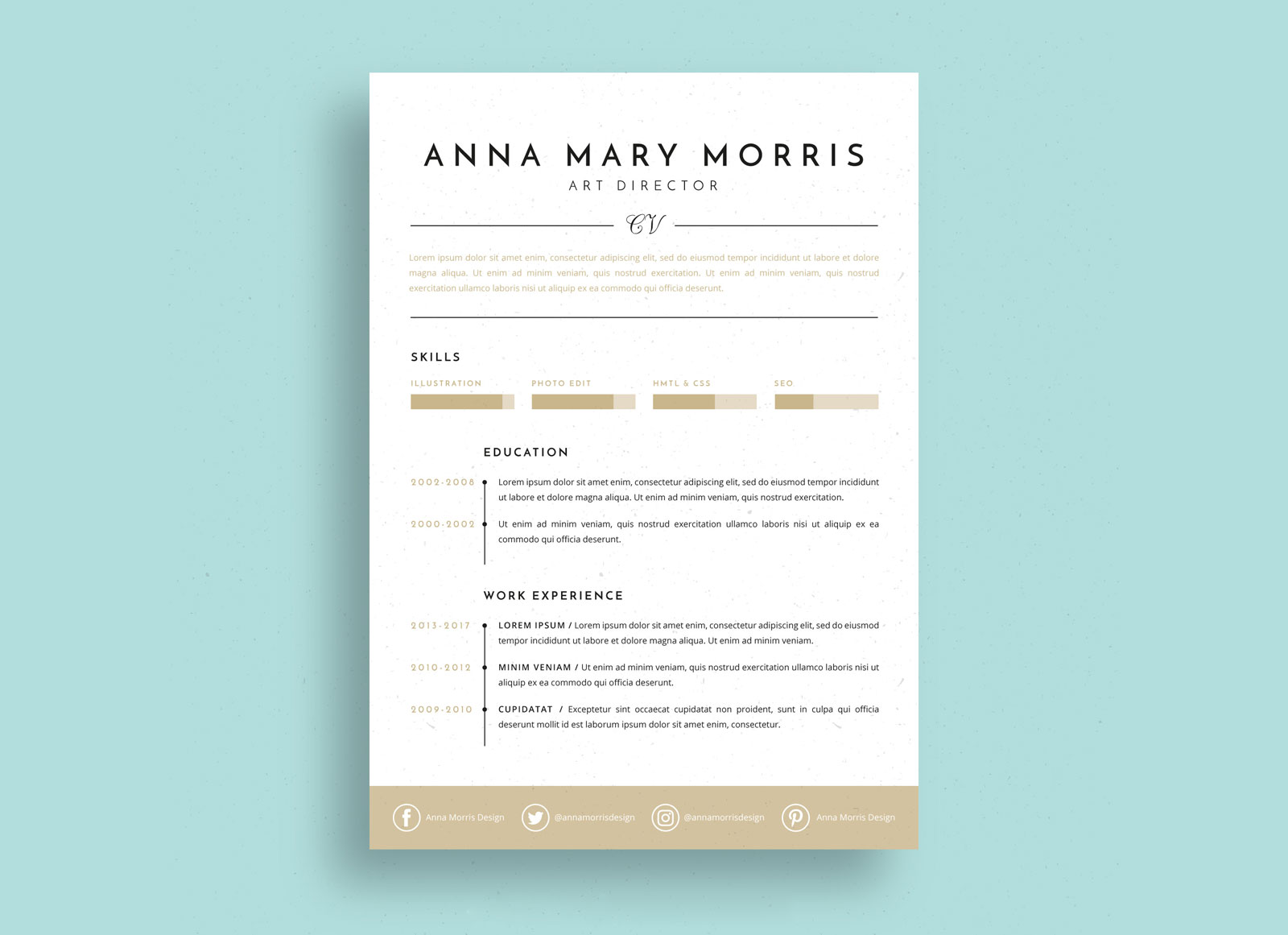 Free-Minimalistic-Ai-Resume-Template-for-Art-Directors