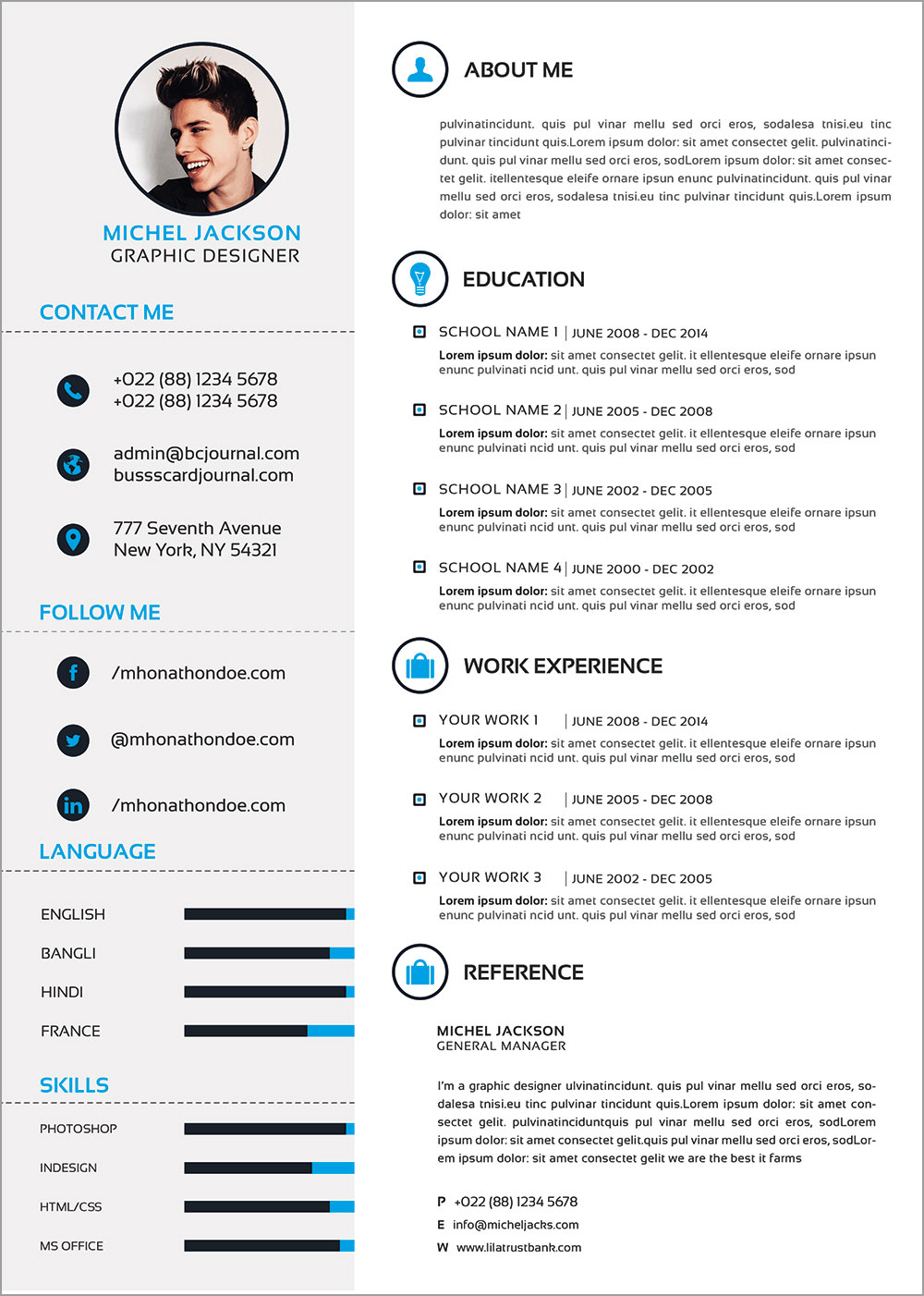 free psd cv   template  cover letter  u0026 portfolio design for graphic designers