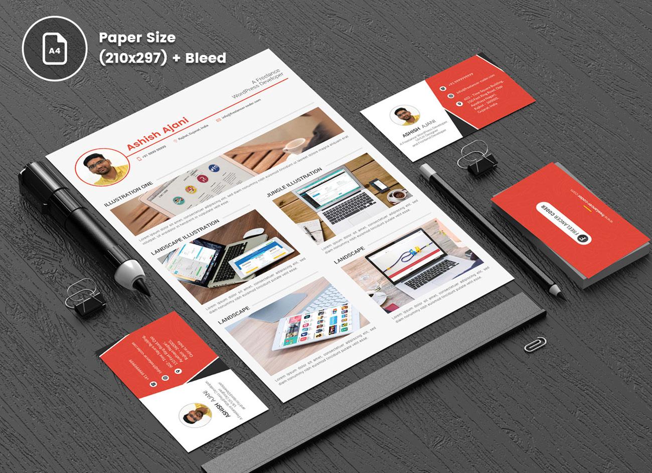 Free-PSD-Resume-Template-&-Cover-Letter-for-PHP-&-Wordpress-Developer-6