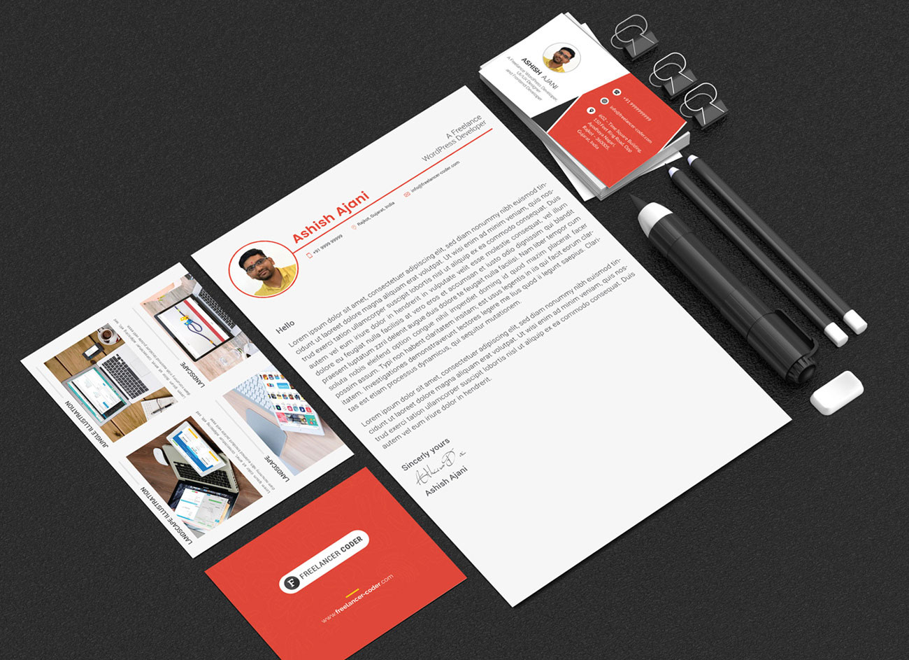 Free-PSD-Resume-Template-&-Cover-Letter-for-PHP-&-Wordpress-Developer-7