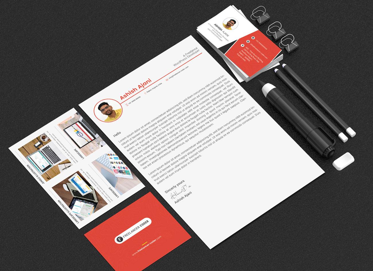 Free-PSD-Resume-Template-&-Cover-Letter-for-PHP-&-Wordpress-Developer-7
