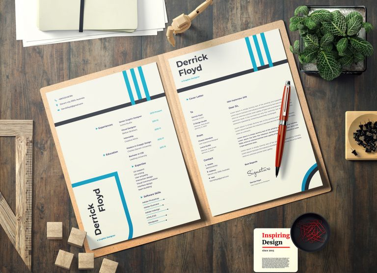 Free Professional CV/ Resume Template & Cover Letter In Word, PSD, Sketch & XD