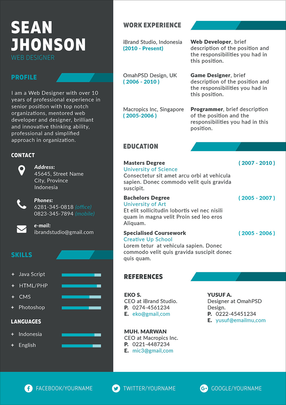 Free-Professional-PSD-Resume-Template-For-Game-Designer-&-Programmer