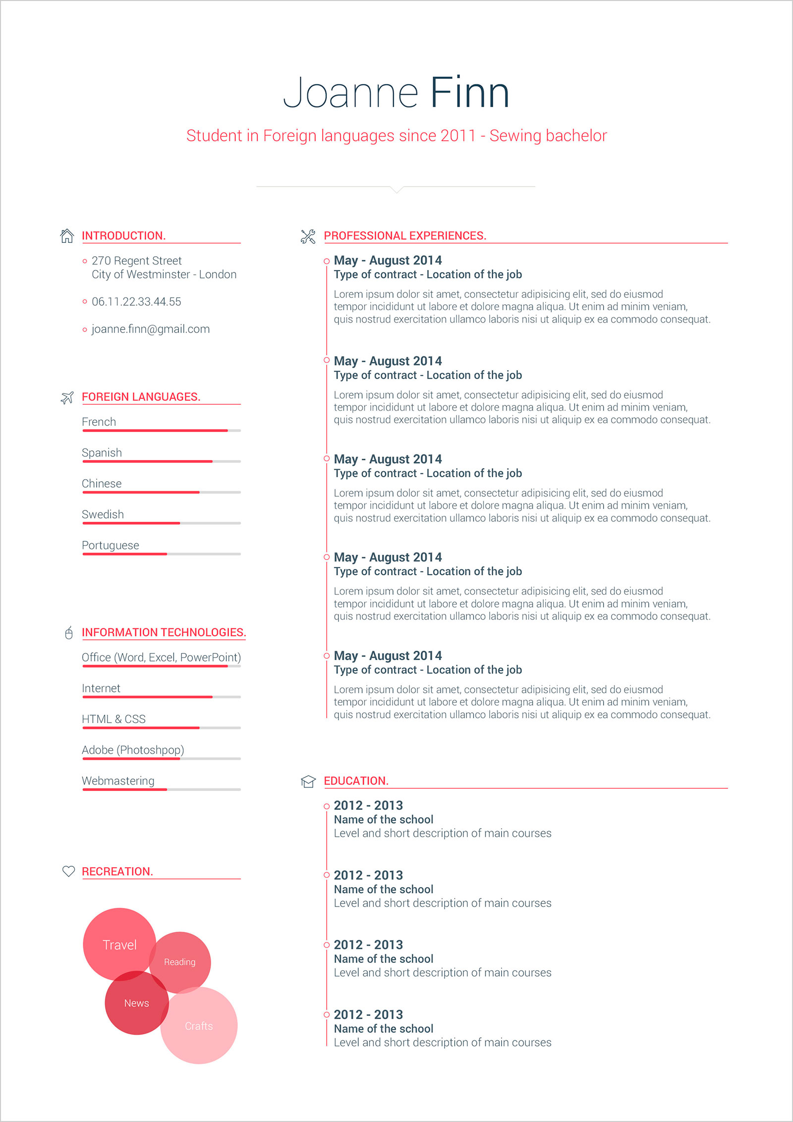 Free Simple Cv Format Template In Psd Amp Word Good Resume
