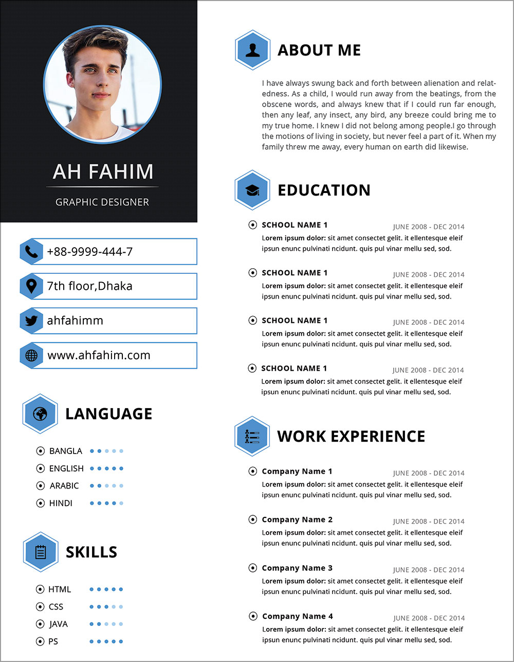 Free-Simple-Resume-Template-in-PSD-Format